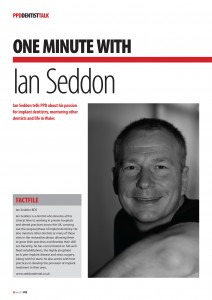 One Minute With Ian Seddon