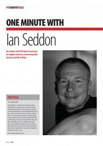 One Minute With Ian Seddon