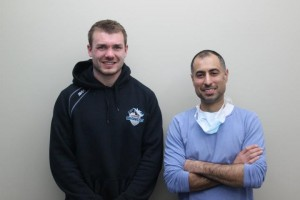 Liam Colbon and Dr. Bob Bhamra