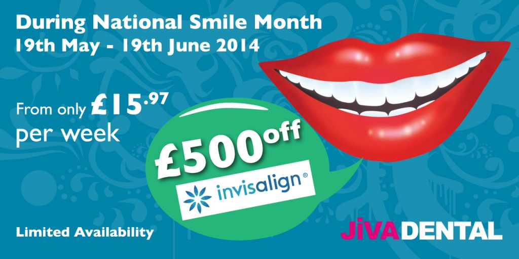 National Smile Month - Invisalign Offer at Jiva Dental